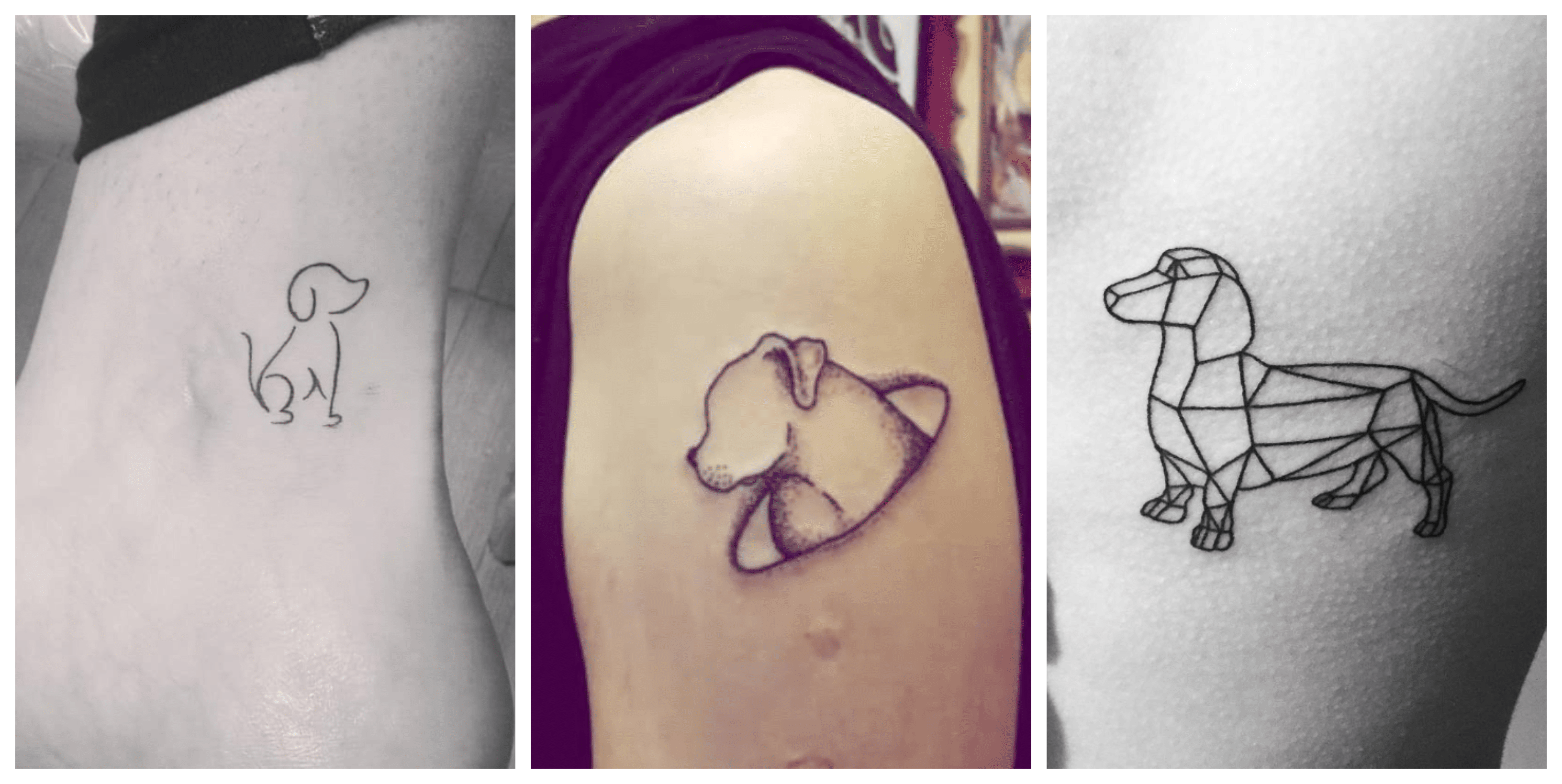 15 drawings of dog silhouette tattoos to inspire you in 2018